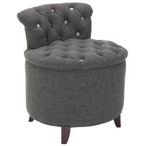 vanity chair with wheels dark gray upholstered button tufted bathroom vanity chair with low curved back