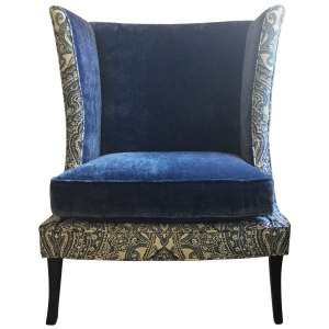 velvet wingback chair robert allen gisele velvet wingback chair front
