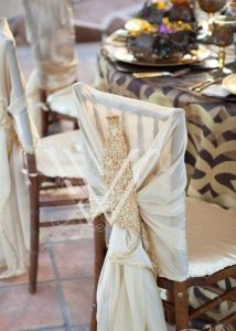 wedding chair sashes chic ivory wedding chair sash decoration