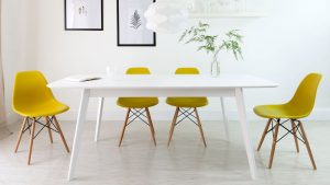 white dining chair eames style dining chair