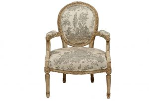 white dining chair louis xvi style painted fauteuil chair