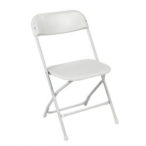 white foldable chair skylrg