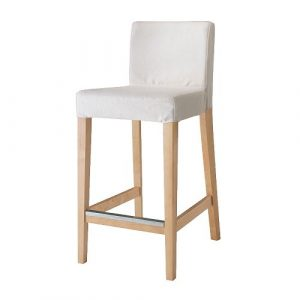 white stool chair henriksdal bar stool with backrest pe s