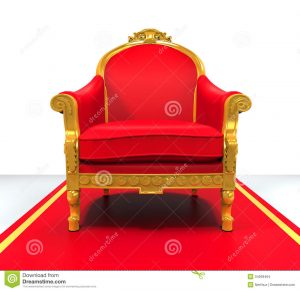 white throne chair king throne chair white background d render