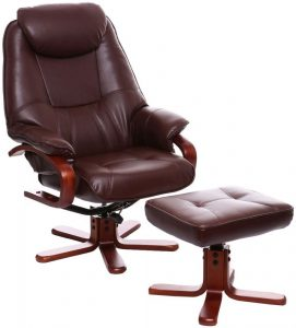 white wooden high chair gfa macau nut brown bonded leather swivel recliner chair