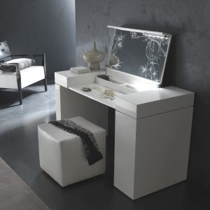 white wooden high chair makeup vanity table furniture