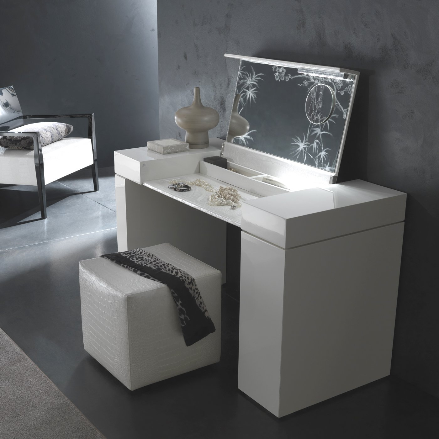 white wooden high chair