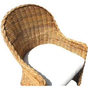 wicker chair outdoors woven rattan outdoor high back lounge chair