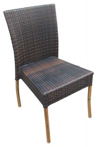wicker table and chair espresso side chair cls