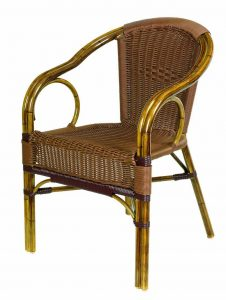 wicker table and chair rattan bistro chairs for cafe shop or restaurant lz