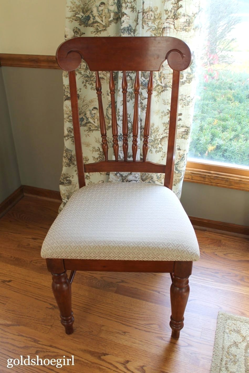 wood chair seat replacement