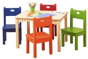 wood folding table and chair kids table and chairs