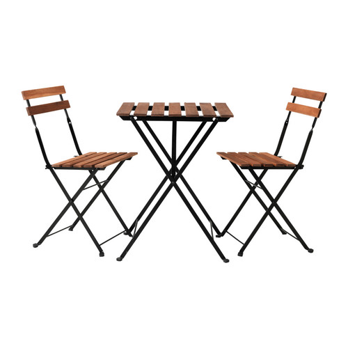 wood folding table and chair