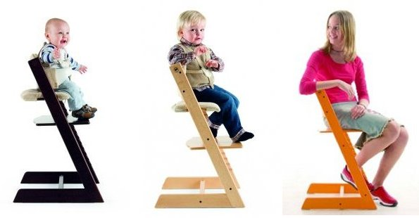 wood high chair for baby