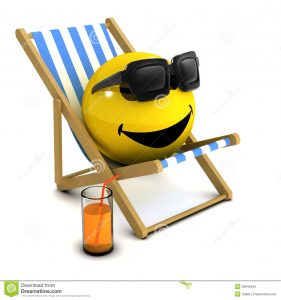 wooden beach chair d smiley holiday render deck chair