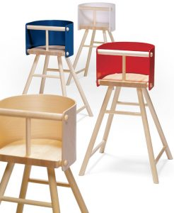 wooden high chair for babies stylish baby chair for modern homes