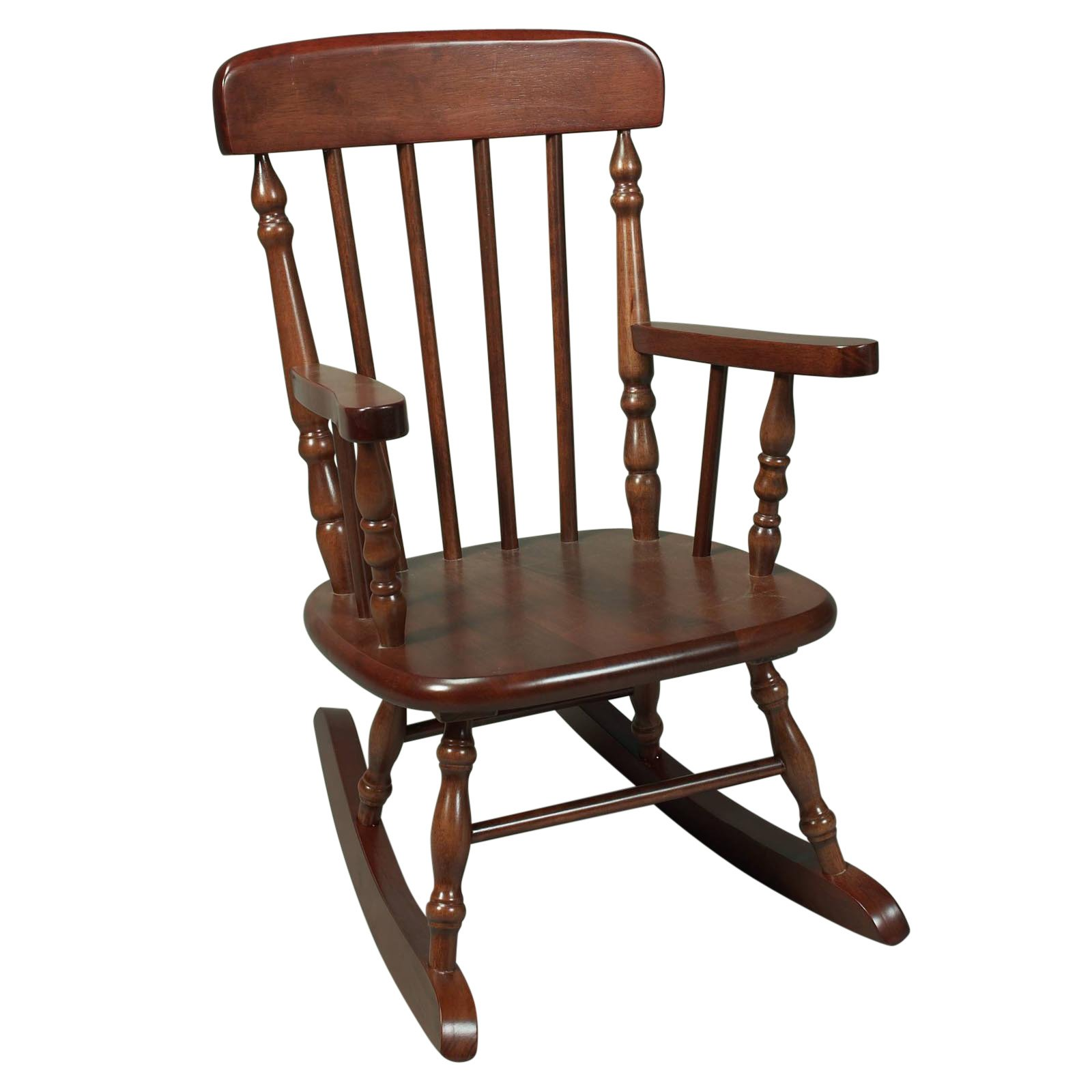 Beautiful Picket Rocking Chair. Wooden Rocking Chair