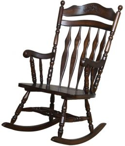 wooden rocking chair walnut finished wooden rocking chair