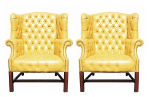 yellow wingback chair ori drexel chairs()