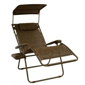 zero gravity patio chair gfc wj bliss extra wide outdoor zero gravity chair with sun shade and cup tray cocoa brown jaquard